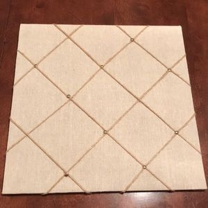Beige Fabric Bulletin Board